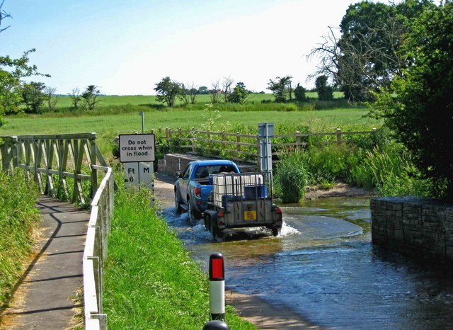 Vehicle crossing Walcot Ford