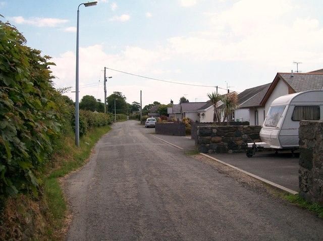 Modern bungalows on the eastern side of Efailnewydd