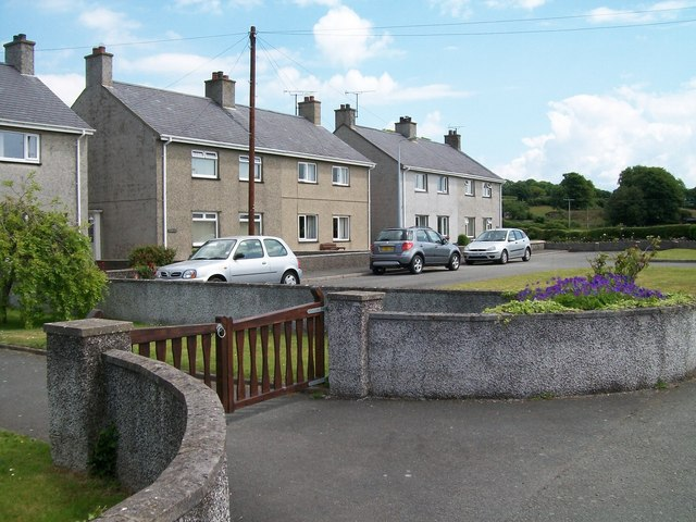 Local Authority built houses at Cae Melfed