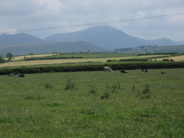 View towards Lakeland hills from Branthwaite