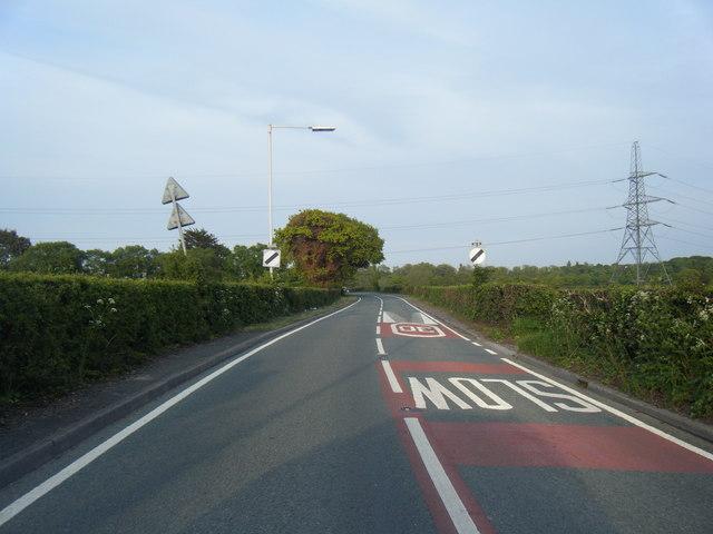 Brimstage Road looking east