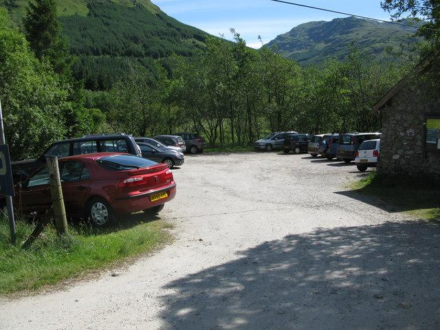 Car Park at Inverlochlarig