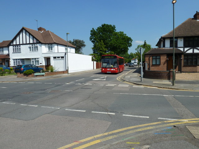 Chelsfield bound bus in Chesham Avenue
