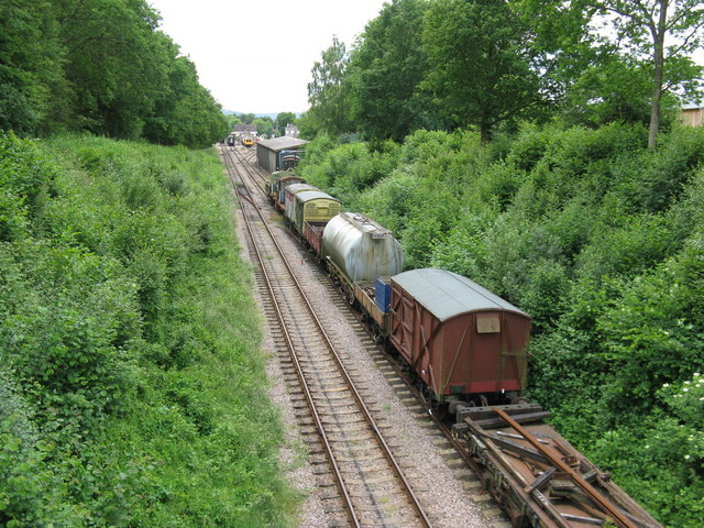 Rolling stock on sidings at the Lavender Line