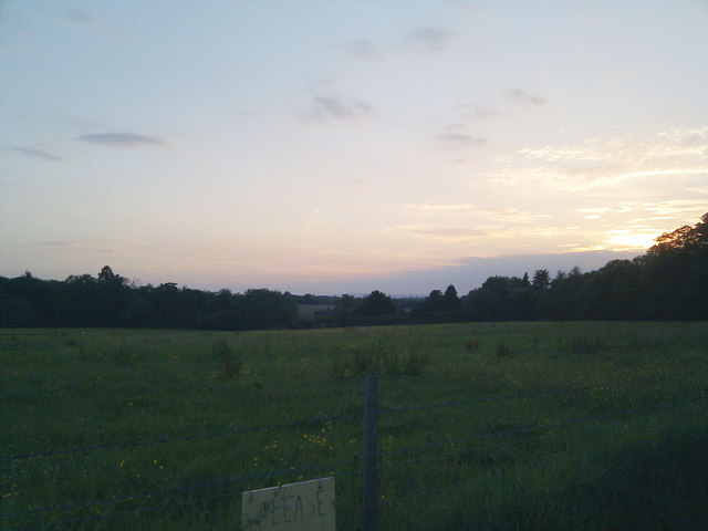 Sunset over Imberhorne Farm