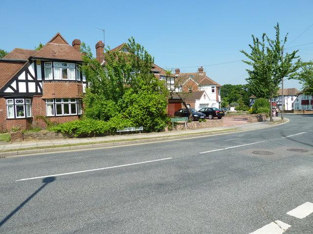 Boundary of Woodhurst Avenue and Nightingale Road
