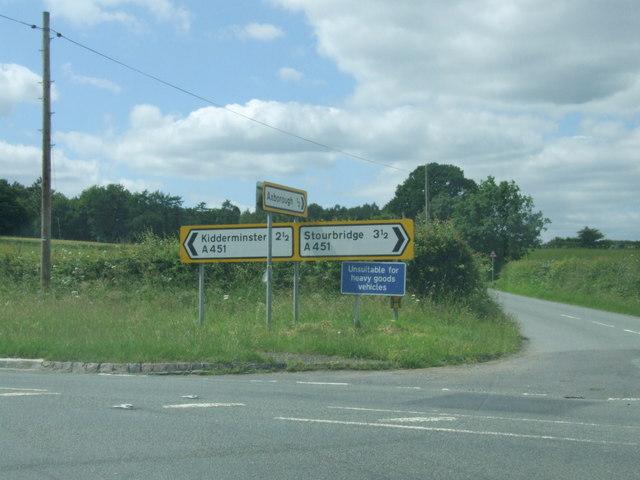 A451 Stourbridge Road