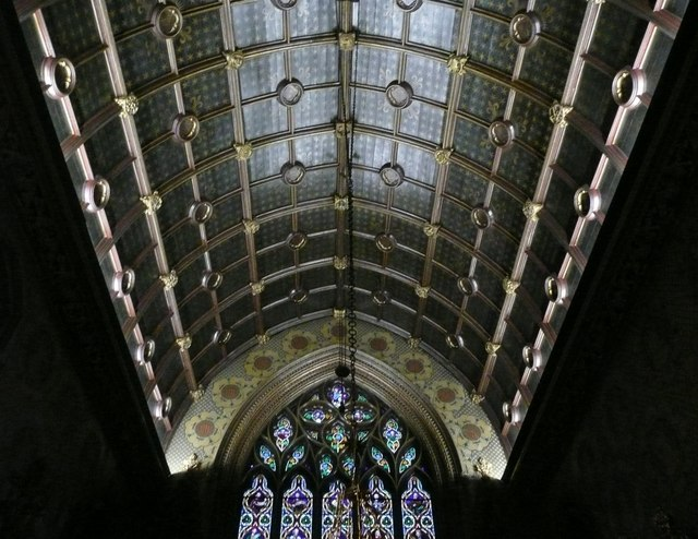 The ceiling of the Roman Catholic Church of St Giles, Cheadle
