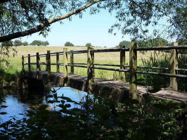Footbridge across the River Poulter