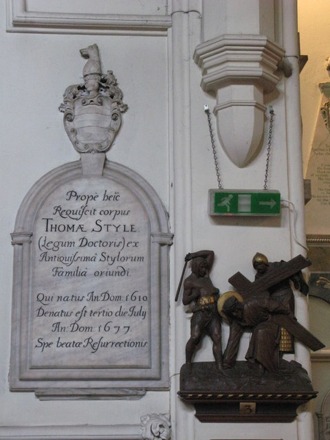 St. George's Church - 17th C memorial