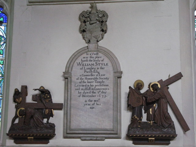 St. George's Church - 17th C memorial (2)