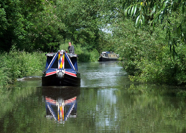 Staffordshire and Worcestershire Canal south of Acton Trussell