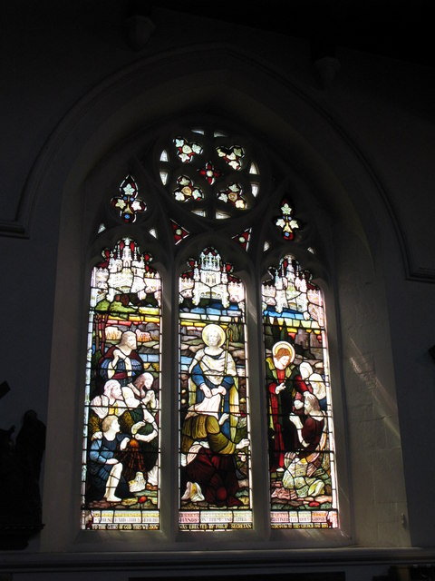 St. George's Church - Victorian stained glass window, south side
