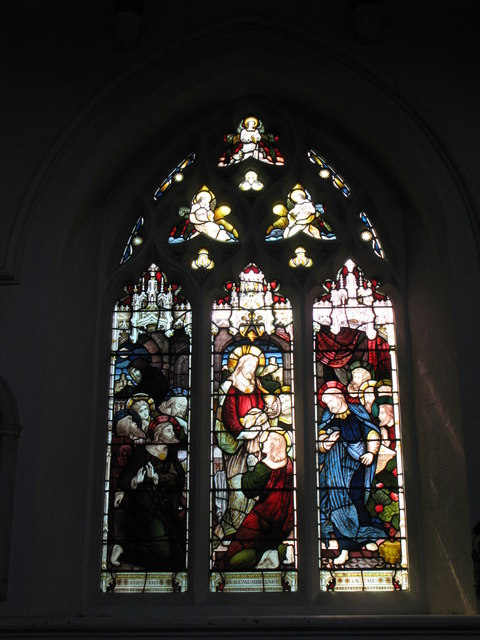 St. George's Church - Victorian stained glass window, south side (2)