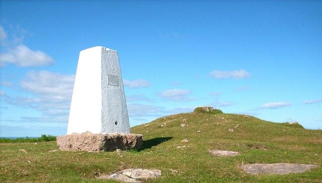 Triangulation Pillar on the summit of Birkrigg Common
