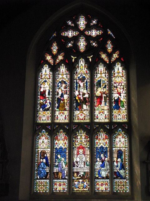 St. George's Church - Victorian stained glass window, south transept