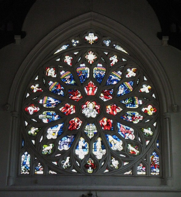St. George's Church - rose window, west end
