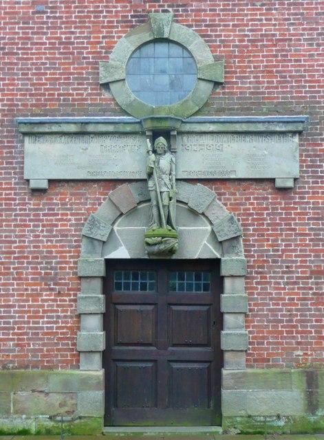 War memorial on St Peter's Church, Marchington