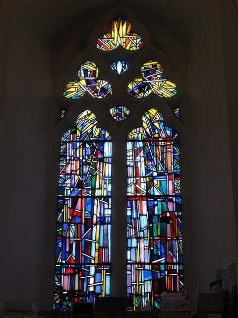 "St. George's Church - stained glass window ""City of God"""