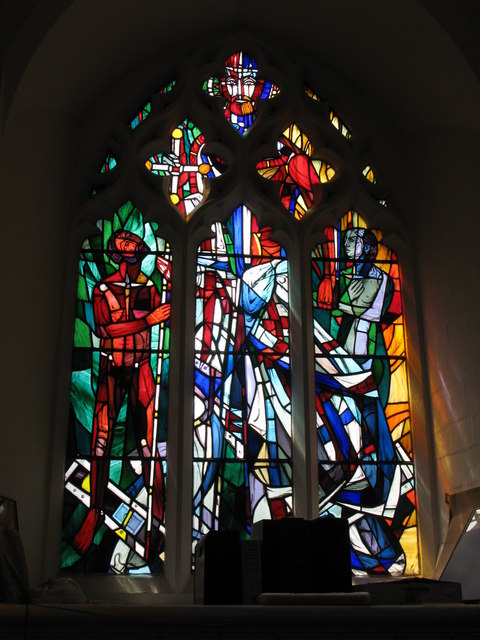 "St. George's Church - stained glass window ""Resurrection Life"""