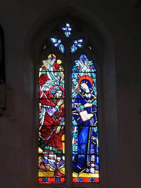 """St. George's Church - stained glass window """"Annunciation"""""""