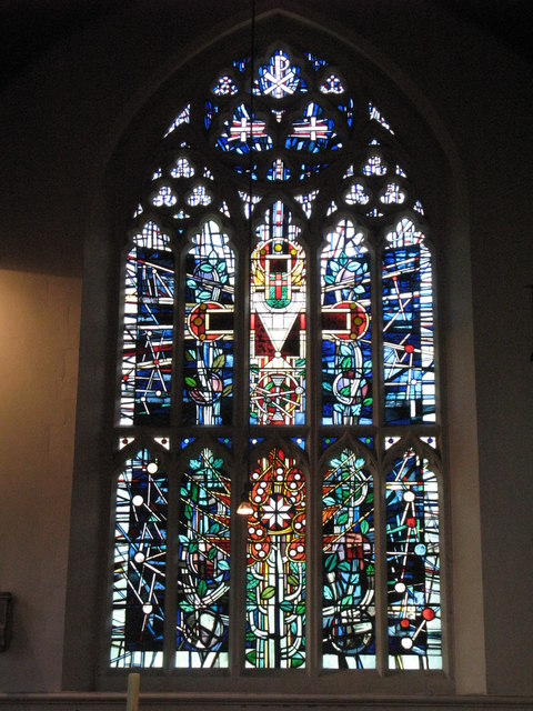 St. George's Church - stained glass window, north transept