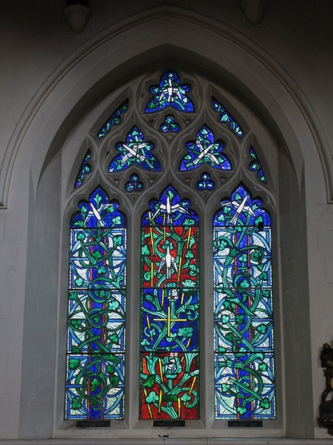 "St. George's Church - stained glass window ""Ministry of Christ"""