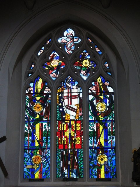 """St. George's Church - stained glass window """"Resurrection"""""""