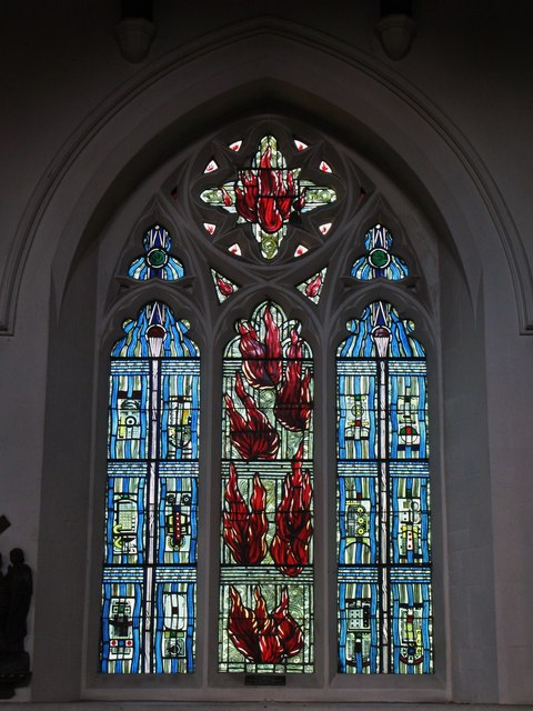 "St. George's Church - stained glass window ""Pentecost"""
