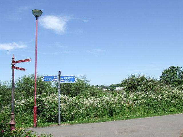 Riverside path, Derby