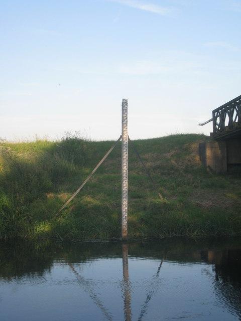 Water level gaugeboard