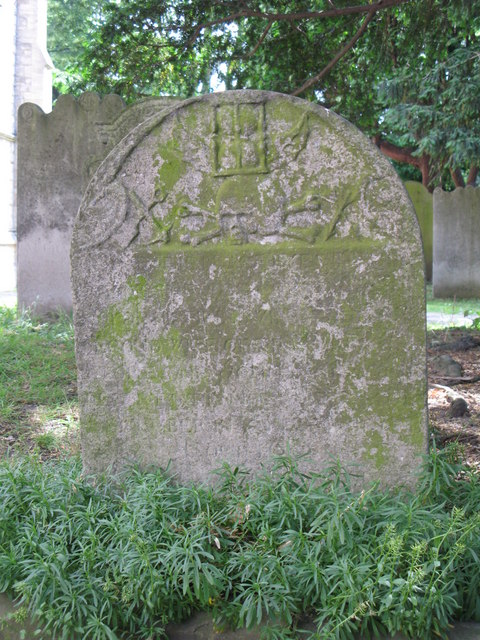 St. George's Church - old gravestone (2)