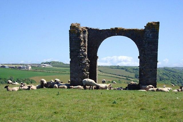 Sheep around the Ruined Tower
