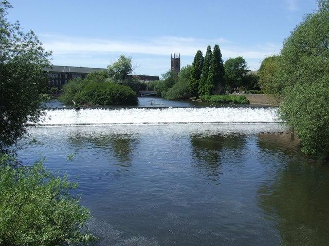 Weir on the Derwent, Derby