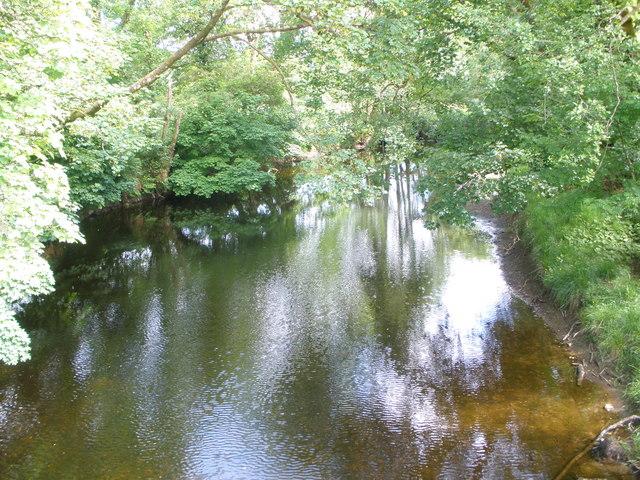 River Shira from the bridge at Maam