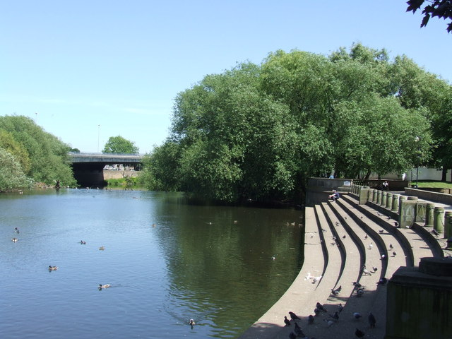 Riverside steps, Derby