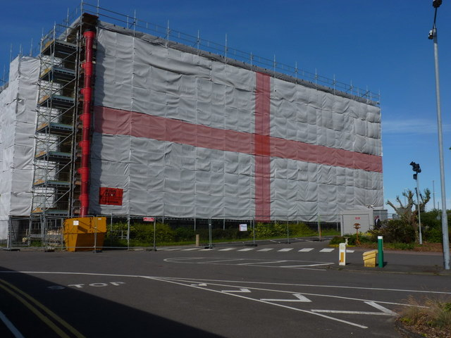 Is this the country's biggest flag of St George?