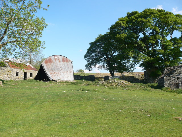 Falling Barn on Wainwright's Coast to Coast long distance path