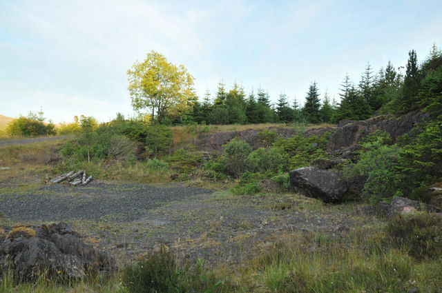Disused small quarry in Barcaldine Forest