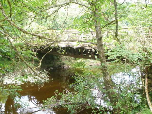 Bridge over the River Shira at Elrigbeag