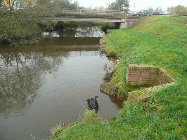 The River Churnet, Rocester