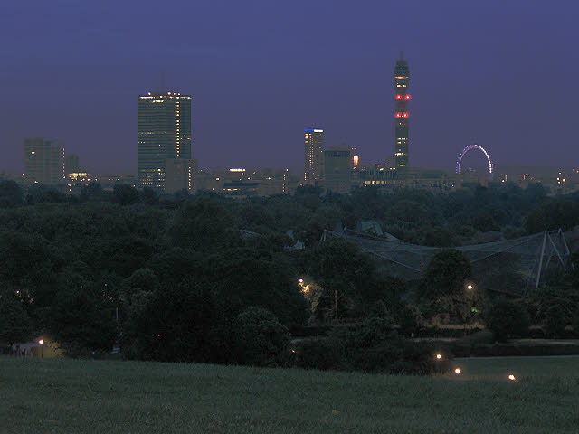 View from Primrose Hill before dawn