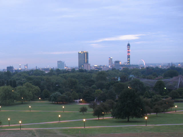 Primrose Hill - view at dawn