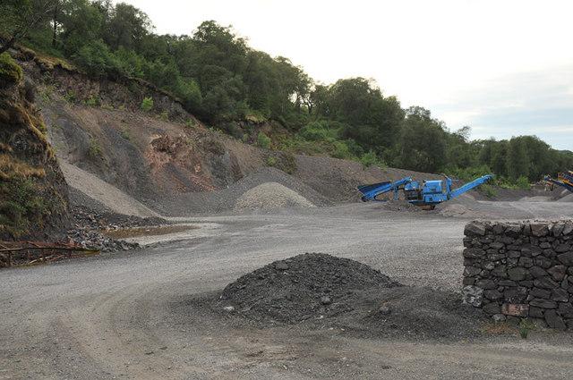 Quarry in Glen Nant