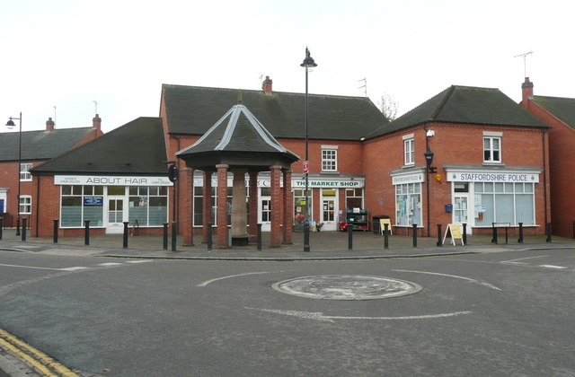 The centre of Rocester