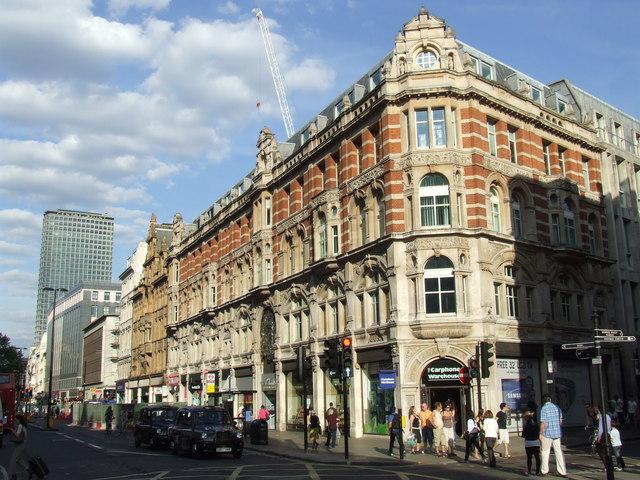 Buildings on Oxford Street