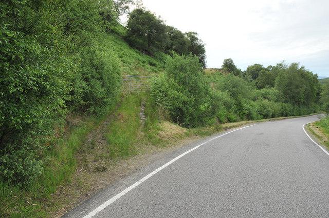 Hill track leaving the B845 near Kilchrenan