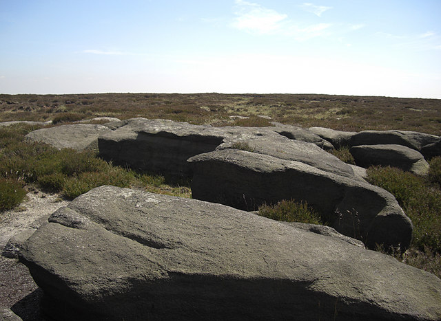 Rocks to the east of Blake Moor trig point