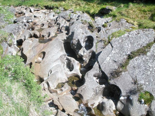 Unusual rock formation in the Brannie Burn