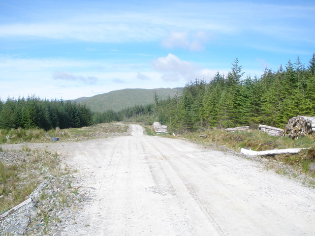 Forestry road above Glen Shira